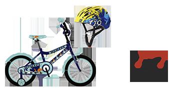 Neuzer 16-os bicikli és sisak