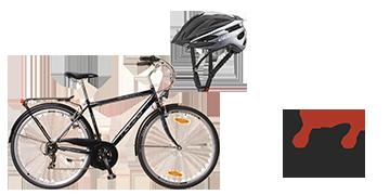 Ravenna 30-as bicikli és sisak