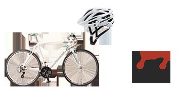 Neuzer Courier bicikli és sisak