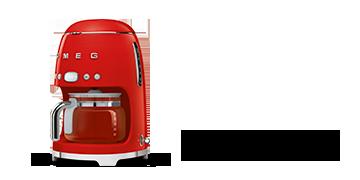 SMEG DCF02RDEU retro filteres kávéfőző